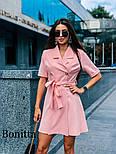 Женское красивое платье-пиджак с поясом (3 цвета), фото 6