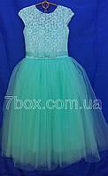 Детское нарядное платье бальное Бэль Мята 6-7 лет. Опт и Розница