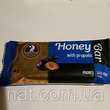 Батончик Honey Bar со сливой и прополисом, на меду, 40 г