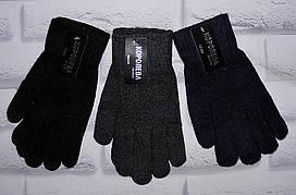 Мужские перчатки рукавицы одинарные с начесом Королева (525)