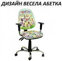 Кресло детское Бридж хром дизайн Весела Абетка (АМФ-ТМ)