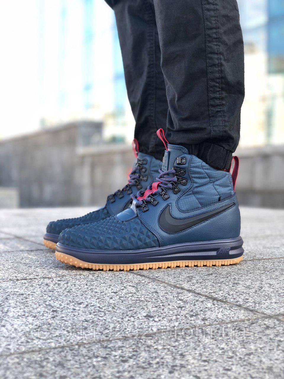 Чоловічі кросівки Nike Lunar Force 1 Duckboot 17 (сині)