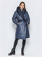 Женская куртка пуховик оверсайз play M 46 серый синий UAJJ033_3p