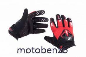 Мото рукавички   RG  модель №:1, розмір: M, червоні