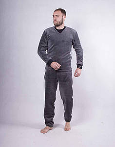 Махровая мужская пижама В НАЛЧИИ ТОЛЬКО 60 Р. цвет серый.