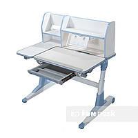 Растущий стол-трансформер с надстройкой для детей от 4 до 16 лет 100х61 см ТМ FunDesk Magico blue