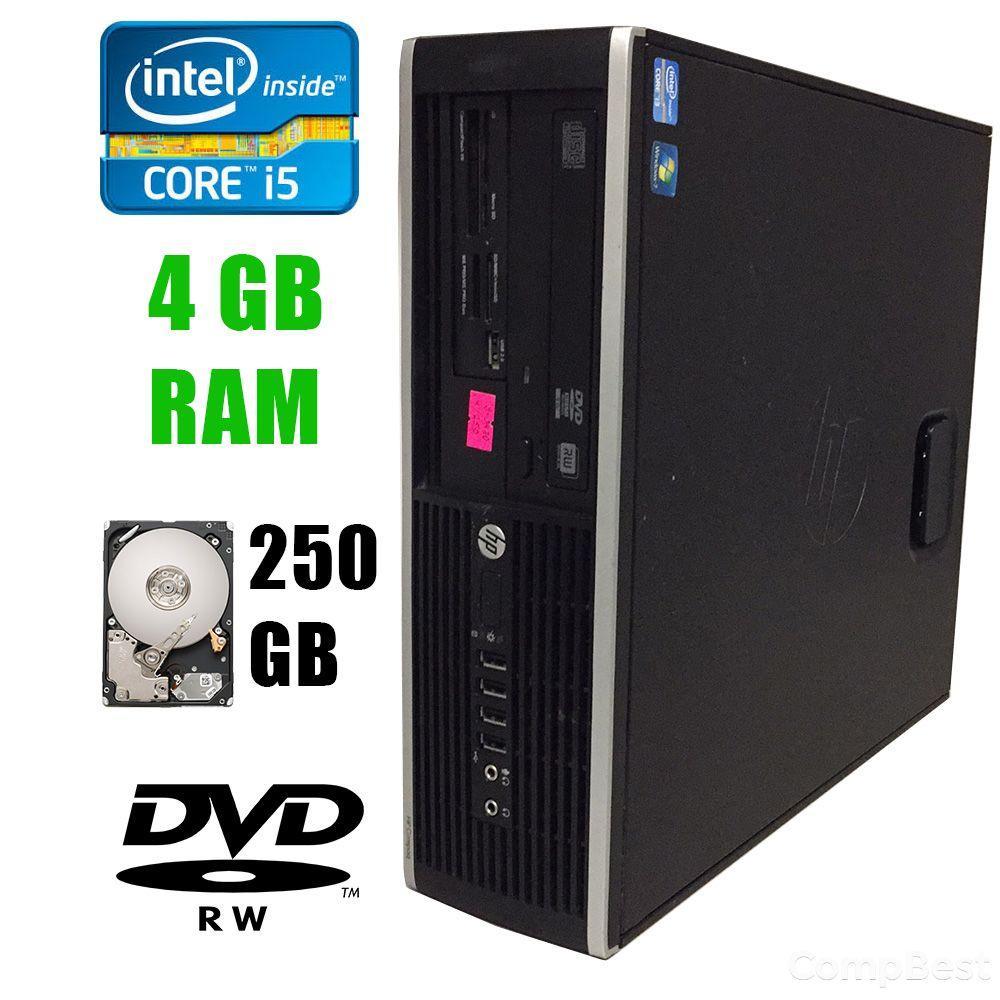 HP 6300 SFF / Intel Core i5-3470 (4 ядра по 3.20-3.60GHz) / 4 GB DDR3 / 250 GB HDD / DVD-RW