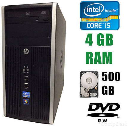 HP Compaq DC8200 Elite MT / Intel Core i5-2400 (4 ядра по 3.10-3.40GHz) / 4 GB DDR3 / 500 GB HDD / DVD-RW, фото 2