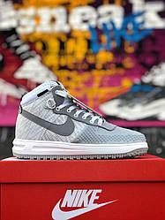 Мужские кроссовки Nike Lunar Force 1 Duckboot 17 (серые)