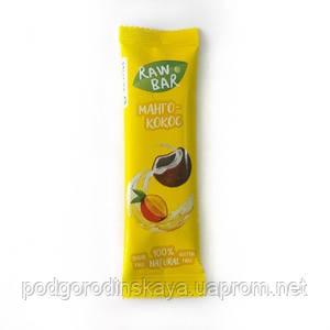 """Батончик без сахара """"манго- кокос"""", 35г, Sunfill"""