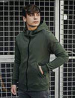 Толстовка мужская с капюшоном Staff haki zip fleece