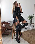 Жіноча сукня вільного крою з еко-шкіри (в кольорах), фото 3