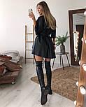 Жіноча сукня вільного крою з еко-шкіри (в кольорах), фото 2