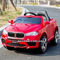 Детский электромобиль M 3180 EBLR-3 BMW с мягким сиденьем, красный