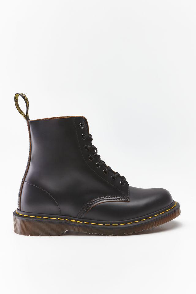 Оригинальные ботинки DR. MARTENS 1460 VINTAGE MADE IN ENGLAND BLACK QUILON DM12308001
