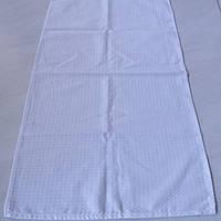 Готовое вафельное полотенце белое однотонное, 42х75 см