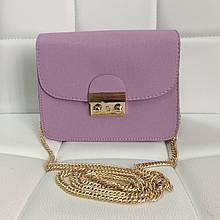 Стильный мини клатч на цепочке в стиле Фурла арт. 0154 Фиолетовый