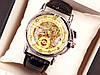 Мужские механические наручные часы скелетоны Omega