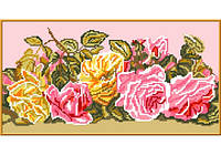 """Схема для вышивки крестом """"Розовый букет"""""""