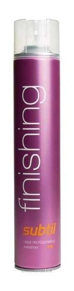 Лак для волос сильной фиксации для завершения прически «Subtil finishing», 250 мл.