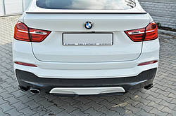 ЦЕНТРАЛЬНА НАКЛАДКА НА ЗАДНІЙ БАМПЕР BMW X4 M-PACK (F26)