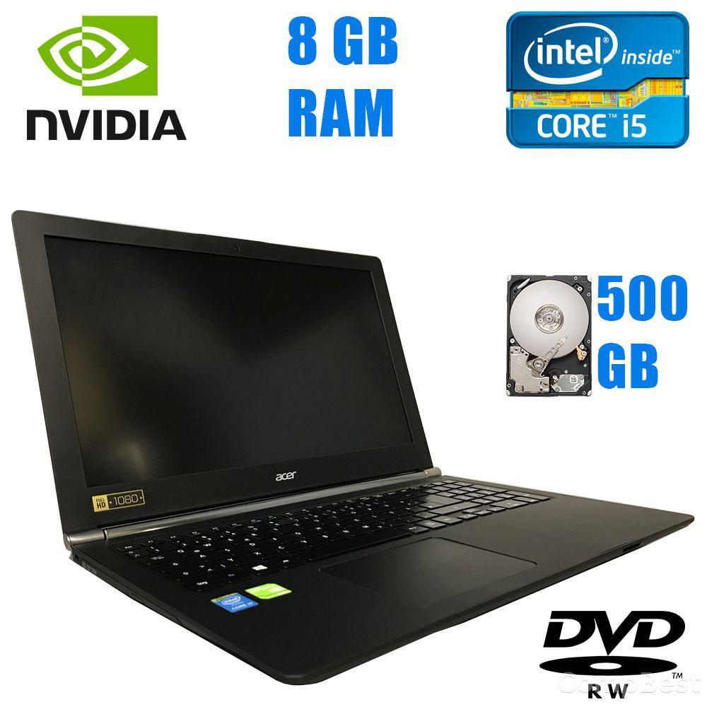 """Acer Aspire Nitro VN7-571G-58FA / 15.6"""" (1920x1080) / Intel Core i5-5200U (2(4)ядра по 2.20-2.70GHz) / 8 GB DDR3L / 500 GB HDD / nVidia GeForce 940M 4"""