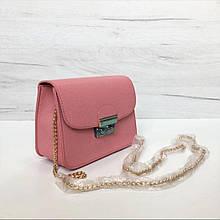 Стильный мини клатч на цепочке в стиле Фурла арт. 0154 Розовый