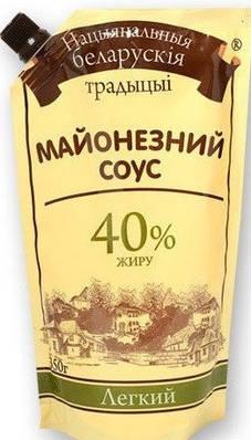 Майонез 40% Лёгки  Беларусский  300 грамм