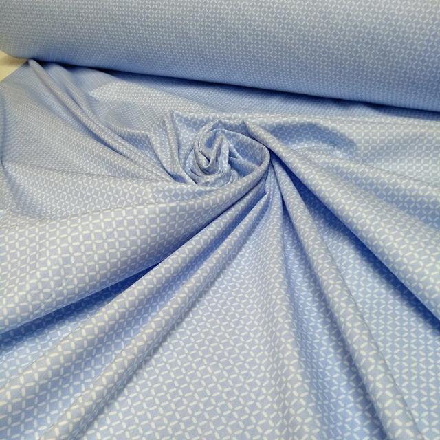 ткань сатин ромб голубой мозаика ширина 220 в интернет магазине, 100% хлопок