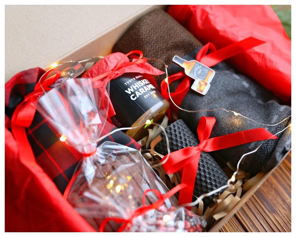 """Подарочный набор """"Красный стиль с виски"""""""
