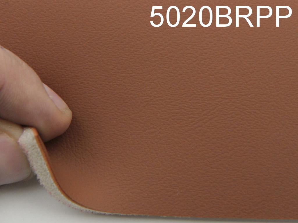 Авто кожзам гладкой, оранжево коричневый на поролоне и сетке (Германия 5020-BRPP)