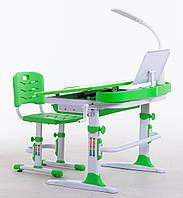 Комплект для школьников парта 90 см,стул, лампа, подставка