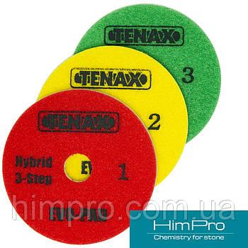 Tenax d100 3 шага EVO-PAD Флексы (полировальные диски) для кварцевого камня