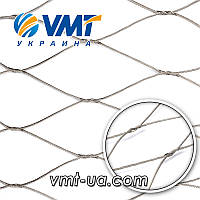 Плетеная тросиковая сетка тип 5050YPW (ручная вязка)