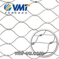 Плетеная тросиковая сетка тип 6060YPW (с соединительным кольцом)