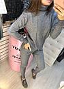 Вязаный кашемировый костюм под горло спереди с орнаментом в стиле спорт шик, фото 8