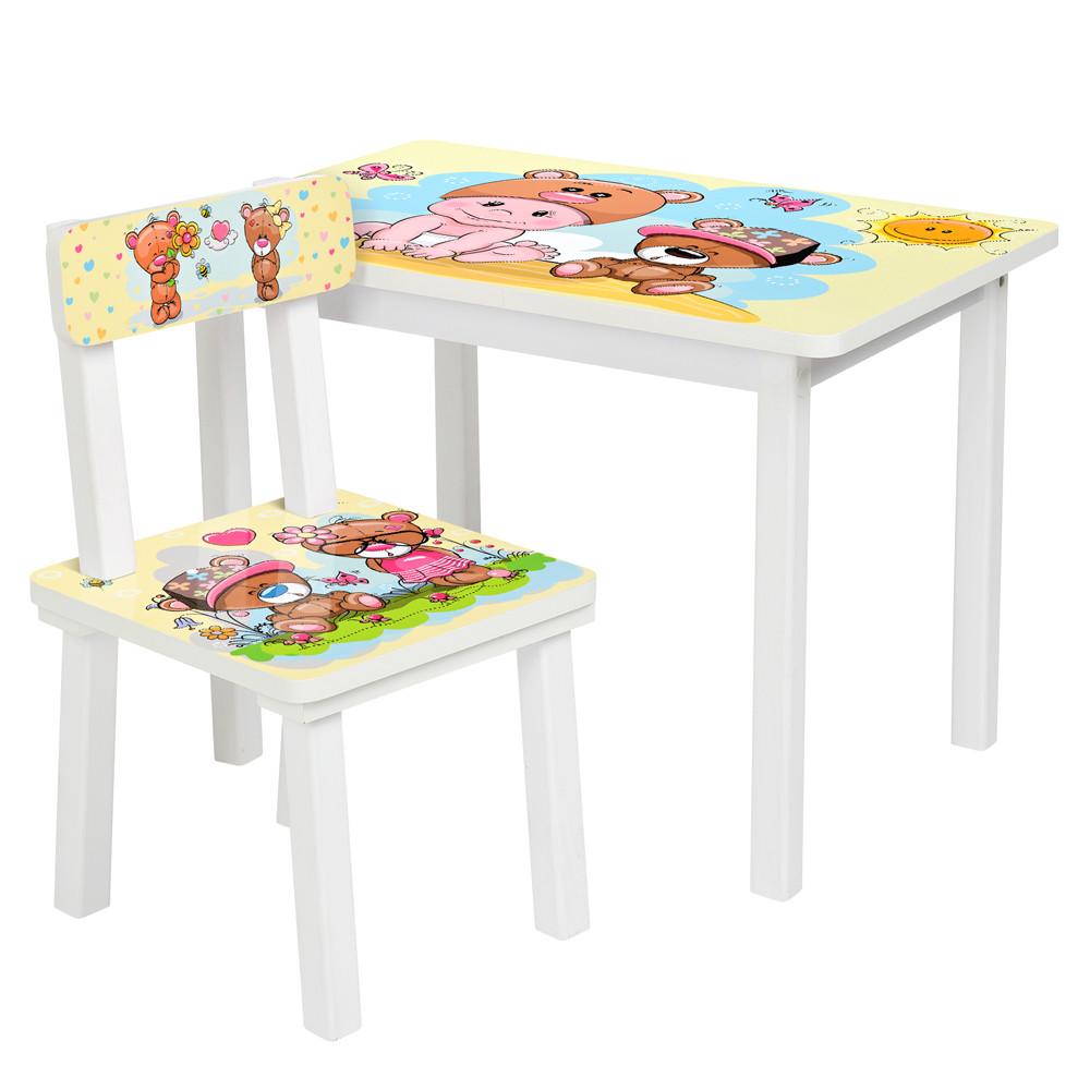 Стол и стульчик детский с мишками Bambi BSM2K-06