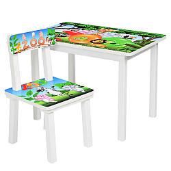 Стол и стульчик детский Bambi BSM2K-33 зоопарк