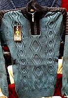Тёплый шерстяной мужской свитер, Турция, размеры 48 - 56 цвета разные - L 1123