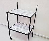 Стол для тату мастера разборной на колесиках с двумя полками