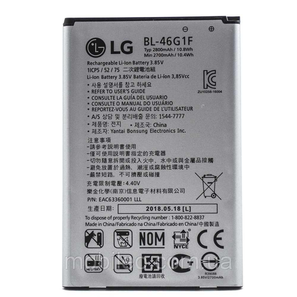 Аккумулятор акб ориг. к-во LG BL-46G1F K10 (2017) TP260 K20 Plus, 2800mAh