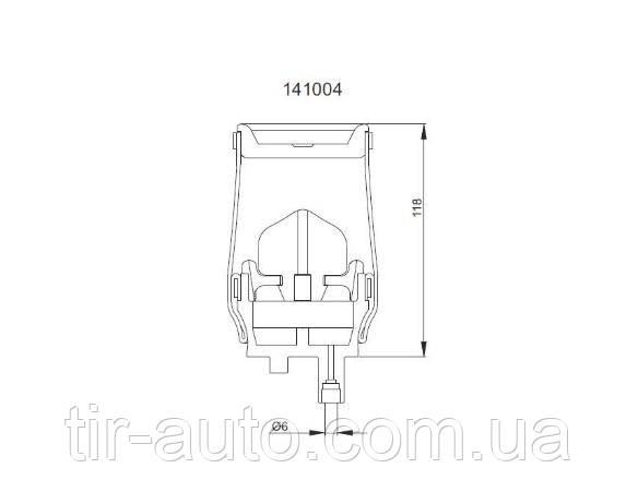 Пневморессора кабины RVI Premium DCI/DX ( AIR EXPERT ) 5010.130.797 G