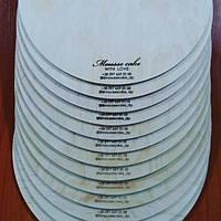 Деревянные подложки для торта с логотипом, фото 1