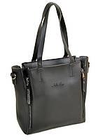 Черная сумка без подкладки со съемным клатчем (косметичкой), фото 1