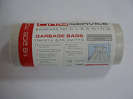 Мешки для мусора белые 120л 10шт 70х110см 32мк ЛД