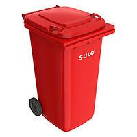 Мусорный бак SULO 120л Красный