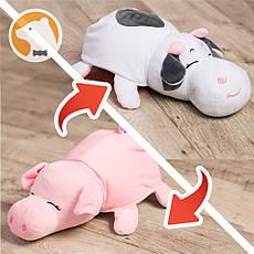 Двойная игрушка подушка-перевертыш Свинка-Коровка