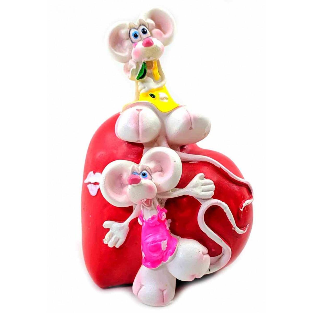 Копилка керамическая Мышка на сердечке