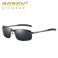 Очки солнцезащитные поляризационные прямоугольные AORON 3043