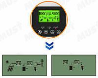 Инвертор автономный 5 кВт MUST PV18-5048 VPK контроллер PWM 60А, фото 2